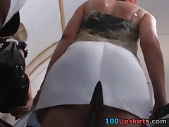 As soon as I saw that blonde hottie in underground railway I decided to film her sexy upskirt. Man, her bubble ass in string panty is mind-blowing! This is definitely one be beneficial to the best upskirt videos!